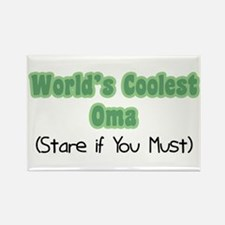 World's Coolest Oma Rectangle Magnet