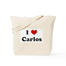 I Love Carlos Tote Bag