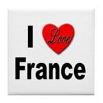 I Love France Tile Coaster
