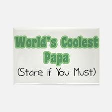 World's Coolest Papa Rectangle Magnet