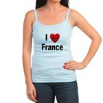 I Love France Jr. Spaghetti Tank