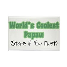 World's Coolest Papaw Rectangle Magnet
