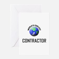 World's Coolest CONTRACTOR Greeting Cards (Pk of 1