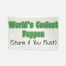 World's Coolest Pappou Rectangle Magnet