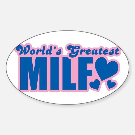 World's Greatest Milf Oval Decal