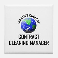 World's Coolest CONTRACT CLEANING MANAGER Tile Coa