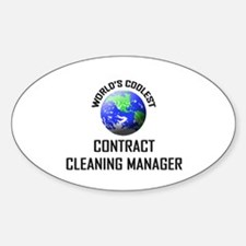 World's Coolest CONTRACT CLEANING MANAGER Decal
