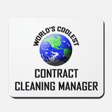 World's Coolest CONTRACT CLEANING MANAGER Mousepad