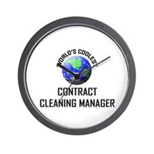 World's Coolest CONTRACT CLEANING MANAGER Wall Clo