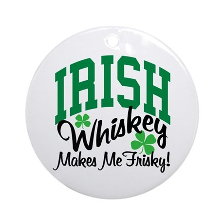 Irish Whiskey Ornament (Round)