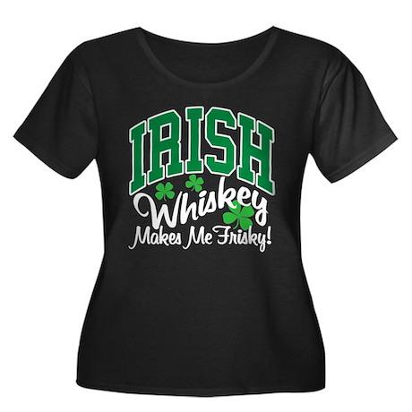 Irish Whiskey Women's Plus Size Scoop Neck Dark T-
