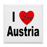I Love Austria Tile Coaster