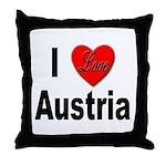 I Love Austria Throw Pillow