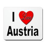 I Love Austria Mousepad