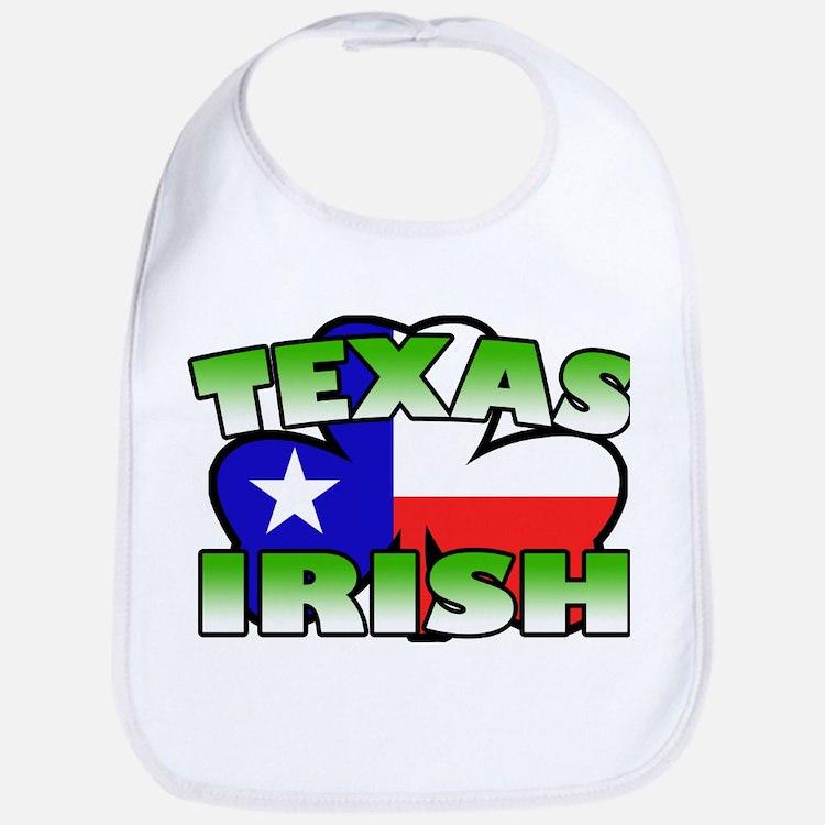 Texas Irish Shamrock Bib