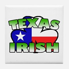 Texas Irish Shamrock Tile Coaster