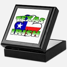 Texas Irish Shamrock Keepsake Box
