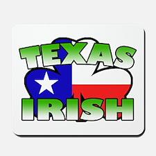 Texas Irish Shamrock Mousepad