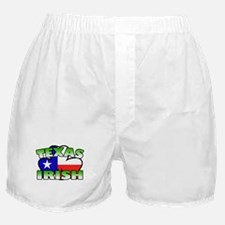 Texas Irish Shamrock Boxer Shorts