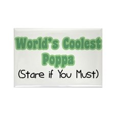 World's Coolest Poppa Rectangle Magnet