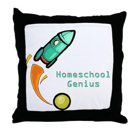 Homeschool Genius Rocket Throw Pillow