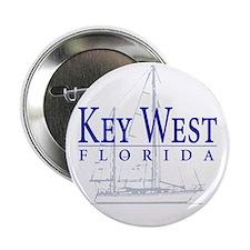 "Key West Sailboat - 2.25"" Button"