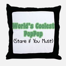 World's Coolest PopPop Throw Pillow