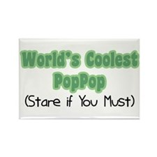 World's Coolest PopPop Rectangle Magnet