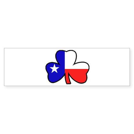 Texas Flag Shamrock Shamrock Bumper Sticker