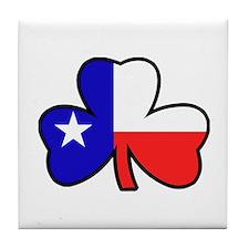 Texas Flag Shamrock Shamrock Tile Coaster