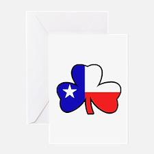 Texas Flag Shamrock Shamrock Greeting Card