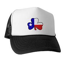 Texas Flag Shamrock Shamrock Trucker Hat