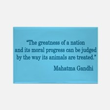 Gandhi Quote Rectangle Magnet (10 pack)