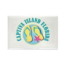 Captiva Flip Flops - Rectangle Magnet