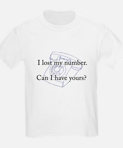 I Lost My Number, Can I Borro T-Shirt