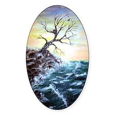 """Coastal Tree"" Oval Decal"