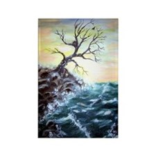 """Coastal Tree"" Rectangle Magnet"