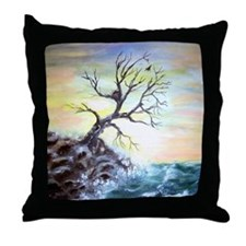 """""""Coastal Tree"""" Throw Pillow"""