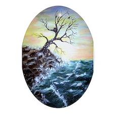 """Coastal Tree"" Oval Ornament"