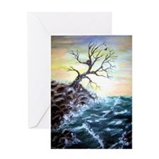 """Coastal Tree"" Greeting Card"