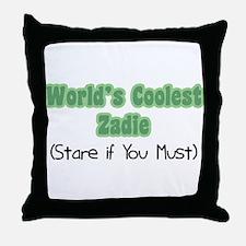 World's Coolest Zadie Throw Pillow