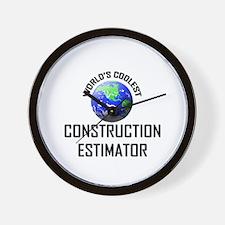 World's Coolest CONSTRUCTION ESTIMATOR Wall Clock