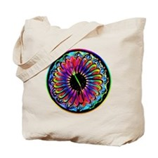 Sumi-e Rainbow Mandala Tote Bag