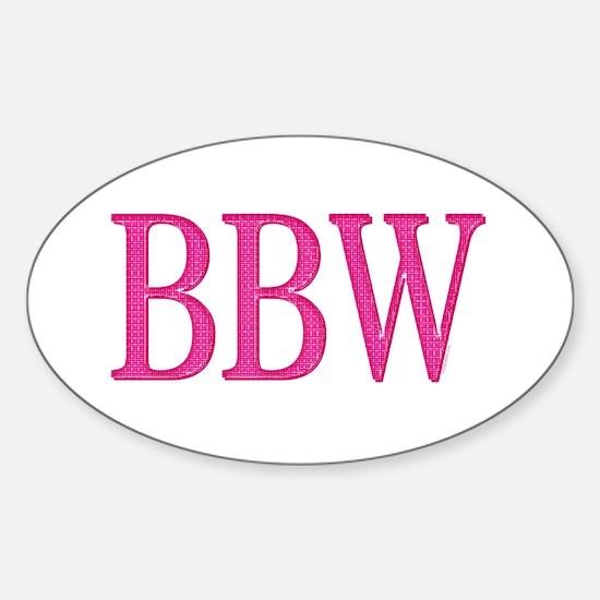 BBW Oval Decal