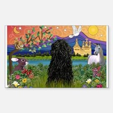 Puli in Fantasy Land Rectangle Decal