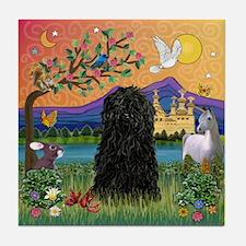 Puli in Fantasy Land Tile Coaster