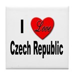 I Love Czech Republic Tile Coaster
