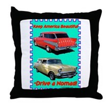 """Drive a Nomad"" Throw Pillow"