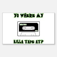 Killa Tape Rectangle Decal