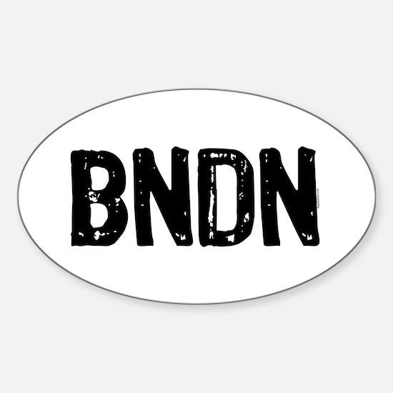 BNDN Oval Decal